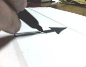 Draw Arrows on Adhesive  Mailing Labels