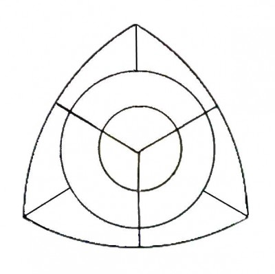 TRIANGLE DIVIDED INTO TWELVE SECTIONS